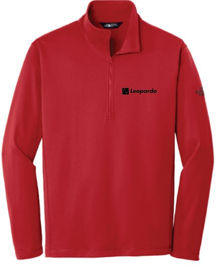 Picture of Men's The North Face 1/4 Zip Fleece (Red)