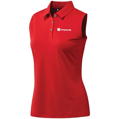 Picture of Women's Adidas Performance Sleeveless Polo (Red)