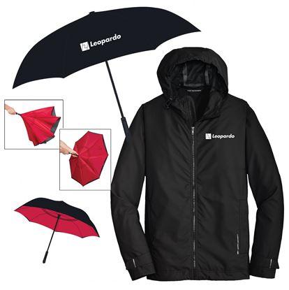 Picture of Keep Dry (Inversion Umbrella and Men's Rain Slicker)