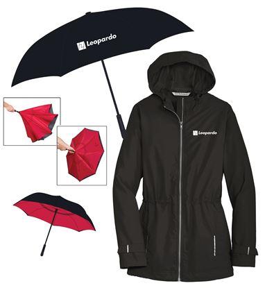 Picture of Keep Dry (Inversion Umbrella and Women's Rain Slicker)