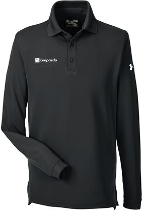 Picture of Men's Under Armour Long Sleeve Performance Polo (Black)