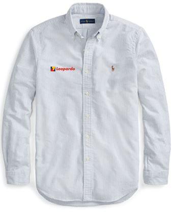 Picture of Men's Polo Ralph Lauren Core-Fit Oxford Shirt (Blue/White Stripe)