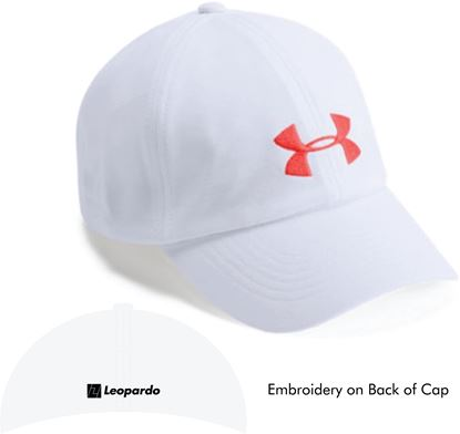 Picture of Women's Under Armour Cap (White/Neon Coral)