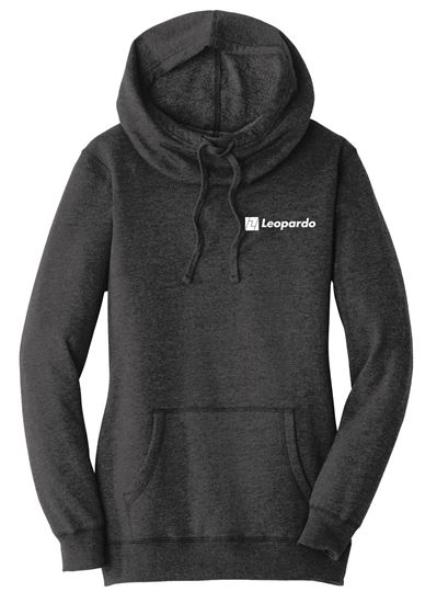 Picture of Women's Lightweight Fleece Hoodie (Black Heather)