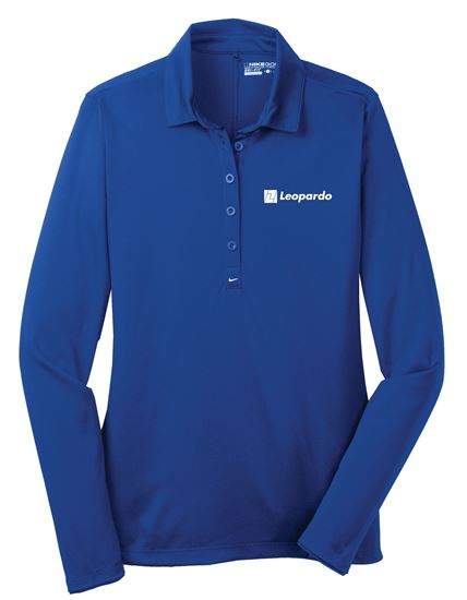 Picture of Women's Nike Long Sleeve Tech Polo (Sapphire Blue)