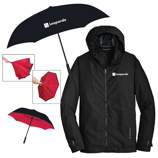 Picture of Keep Dry (Inversion Umbrella and Men's Rain Slicker)