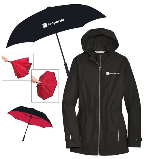 Picture of Keep Dry (Inversion Umbrella and Women's Rain Slicker)